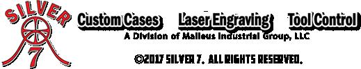 Silver 7 footer logo