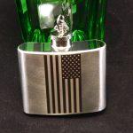 Silver 7 Custom Whiskey Flask Laser Marking